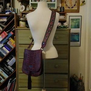 Bohemian embroidered Steve Madden crossbody purse
